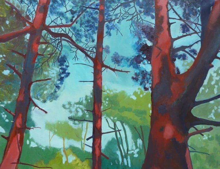 Claire Cansick landscape painting Norwich