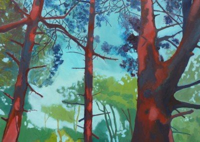 norwich landscape painting Claire Cansick Mousehold