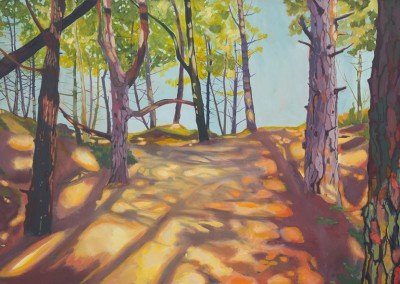 Through Wells Woods by landscape artist Claire Cansick