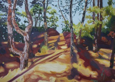 norfolk landscape painting Wells Woods II limited edition print