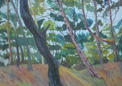 norfolk landscape painter claire cansick wells woods II norwich art