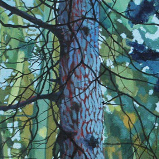 Blue Fir Limited Edition Print landscape Claire Cansick detail