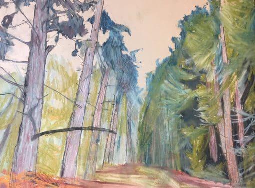 Cawston Norfolk pastel on paper landscape