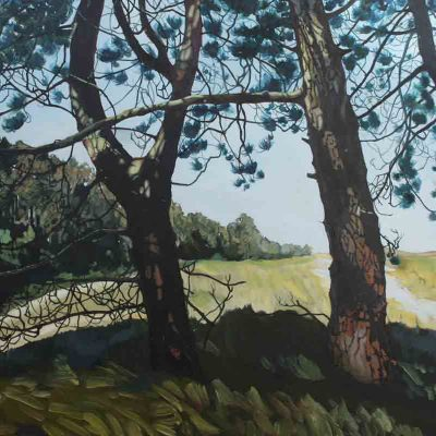 Towards Burnham Limited Edition Print by landscape painter Claire Cansick