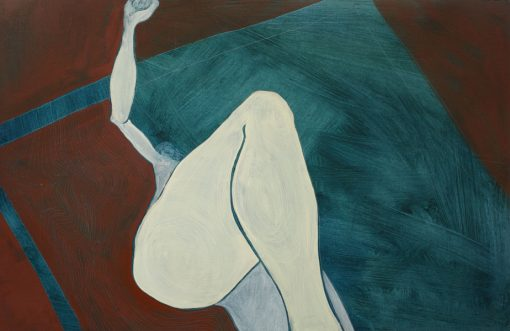 Studio VIII oil on paper by Claire Cansick