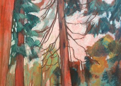 Trespassing for Art IV pastel on paper landscape