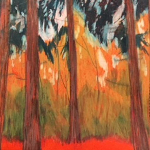 Woods pastel drawing