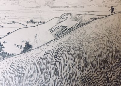 Boy On The Hill - 29 x 21 cm - pencil on paper