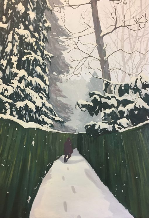 The Search landscape painting by Claire Cansick