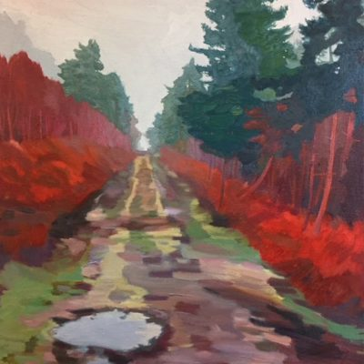 Troubled Track by landscape painter Claire Cansick
