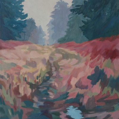 The Poachers Track landscape painting by Claire Cansick