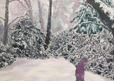 Beast From The East - oil on canvas - 60 x 90 cm - 2018