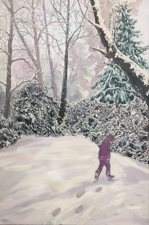 Beast From The East landscape by Claire Cansick