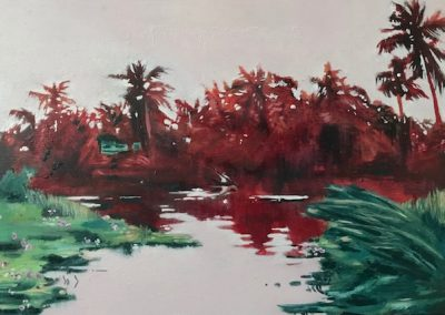 Lagoon Sketch - oil on wood panel - 21 x 31 cm - 2018