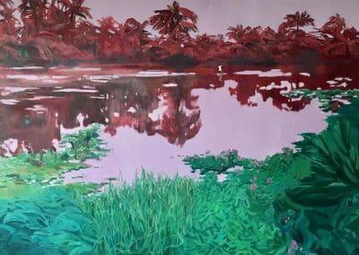 Garuda Lagoon - oil on canvas - 150 x 100 cm - 2018