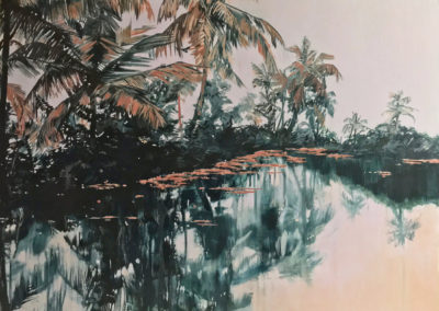 Kochi Lagoon landscape by Claire Cansick