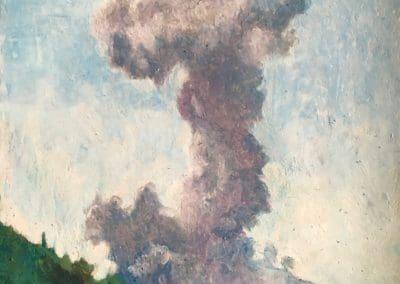 Volcano 2019 pastel on paper 42 x 60 cm