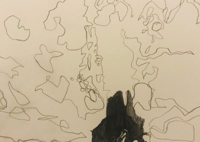 Boy in a Cave drawing