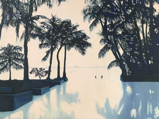 Infinity Pool landscape painting by Claire Cansick