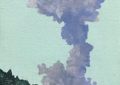 Volcano miniature - - oil on board - 10.6 x 14.7 cm - 2019