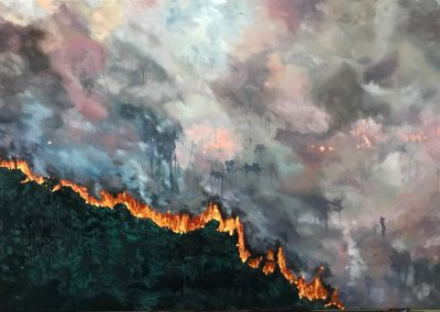 Australia Bushfire painting by Claire Cansick