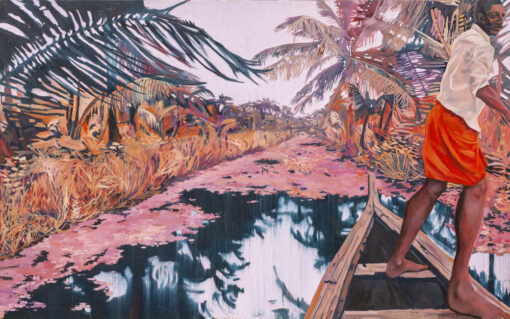 Backwater Dream Kerala painting by Claire Cansick