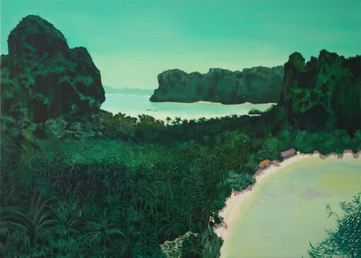 The Hidden Laggon Krabi painted by Claire Cansick