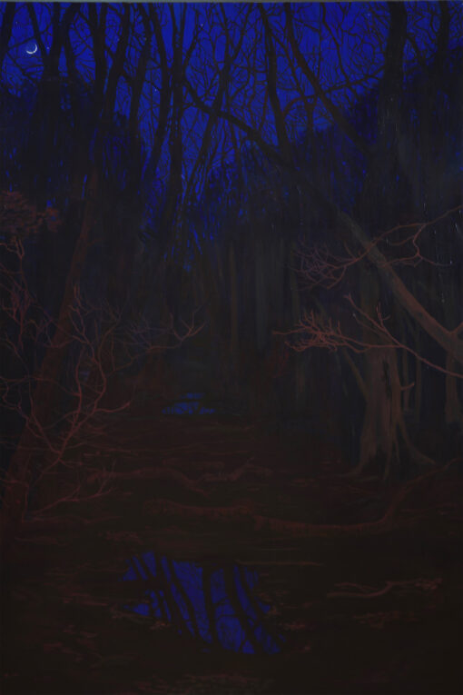 Waiting For You There nocturne painting by Claire Cansick