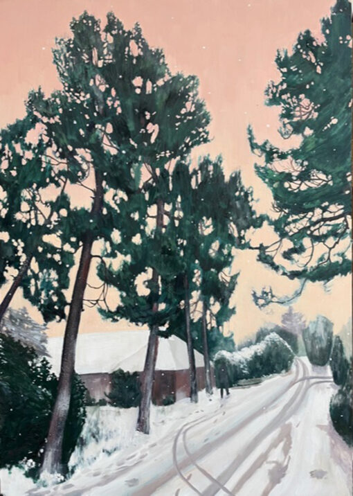 Take Me to Burbank landscape paining by Claire Cansick