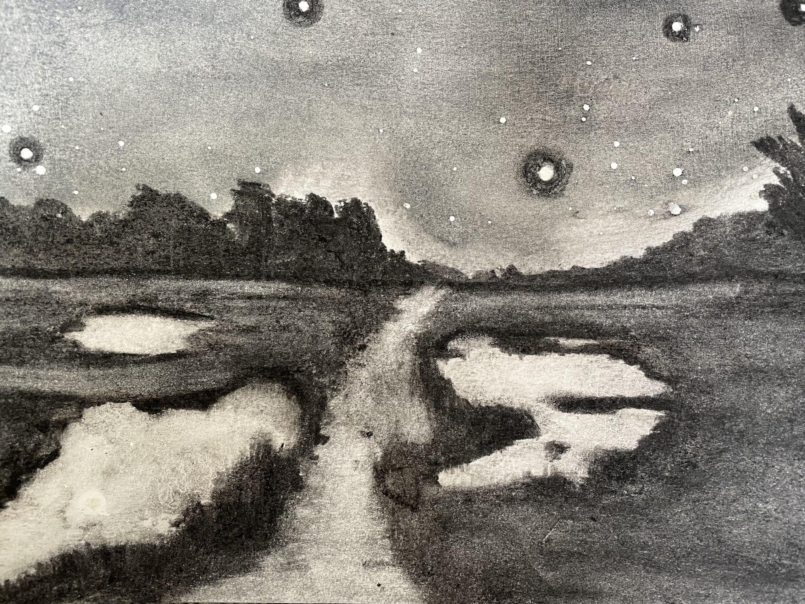 Saltmarsh Stiffkey II drawing