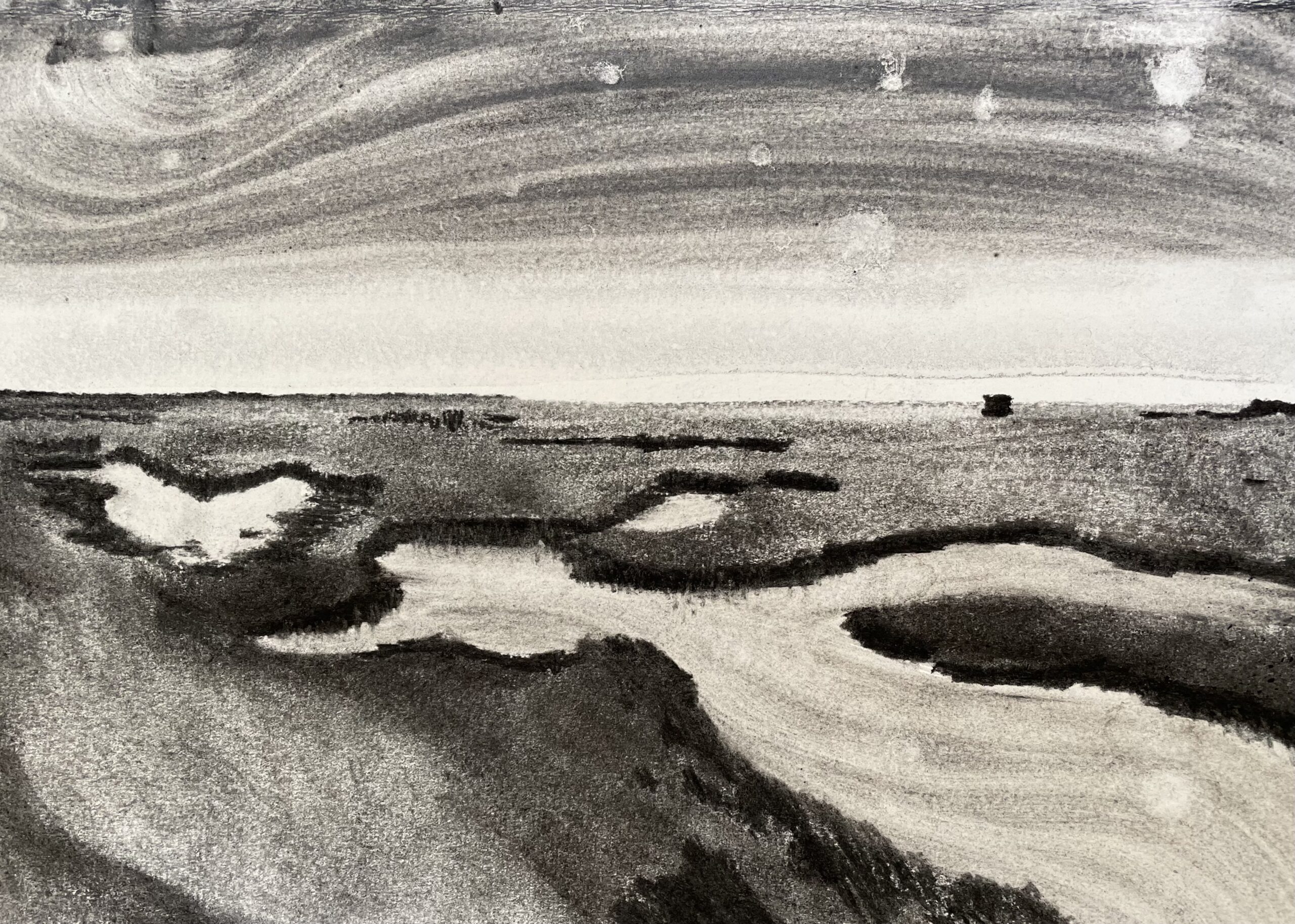 Saltmarsh Stiffkey III drawing