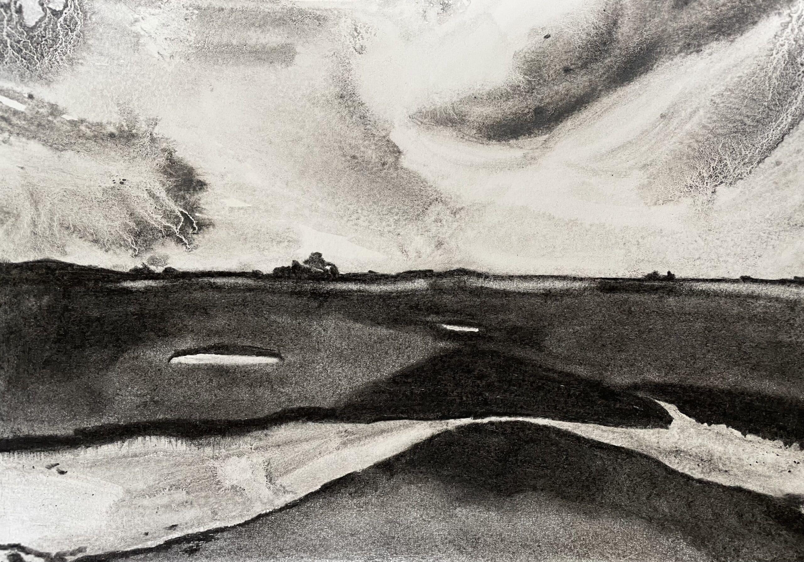 Stiffkey VII charcoal drawing