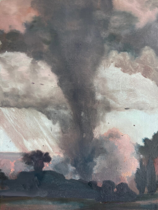Tornado - oil on wood painting by Claire Cansick